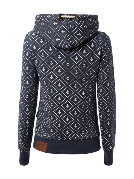 naketano hoodie mit anker print in blau t rkis online kaufen 9521232 p c online shop. Black Bedroom Furniture Sets. Home Design Ideas