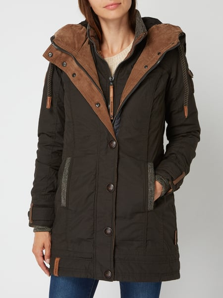 Naketano Wintermantel Jacke Parka A Woman will rise up 2