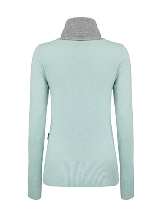 Naketano Pullover mit Tube Collar Mint meliert - 1