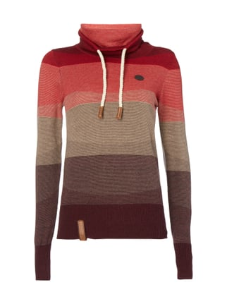 Pullover mit Tube Collar Rot - 1