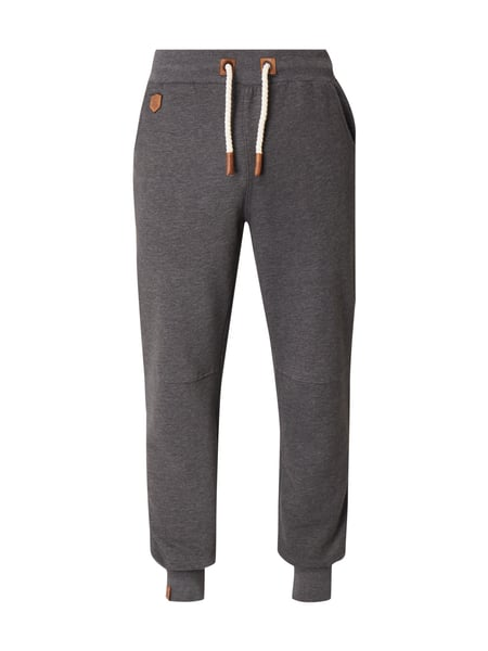 Naketano Sweatpants mit Logo-Applikationen Anthrazit meliert