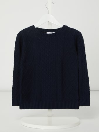 Name It Pullover mit Zopfmuster Modell 'Valthe' Blau - 1
