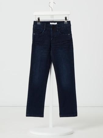 Name It Straight Fit Jeans mit Stretch-Anteil Modell 'Ryan' Blau - 1
