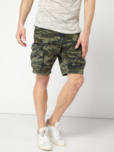 info for 75cd4 1dbc7 Cargobermudas mit Camouflage-Muster