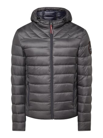 Napapijri Regular Fit Steppjacke mit Kapuze Grau - 1