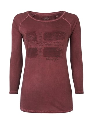 Shirt im Washed Out Look mit Logo-Print Rot - 1