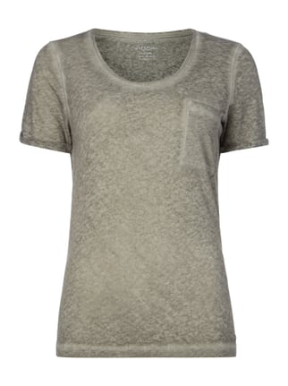 T-Shirt im Washed Out Look Grau / Schwarz - 1