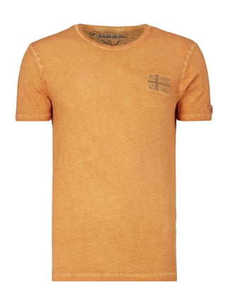 T-Shirt im Washed Out Look Orange - 1