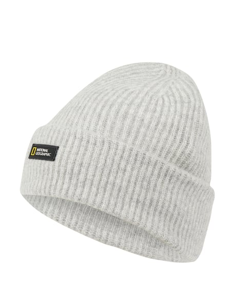 National Geographic Beanie mit Logo-Badge Grau - 1
