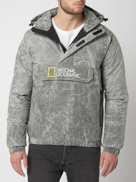 National Geographic – Jacke in Schlupfform wasserabweisend – Hellgrau