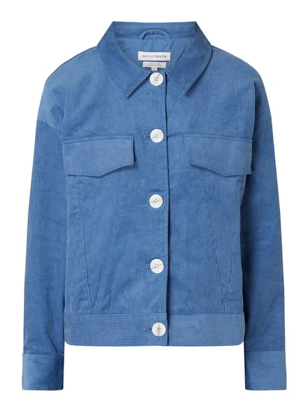 NATIVE YOUTH Jacke aus Cord Blau - 1