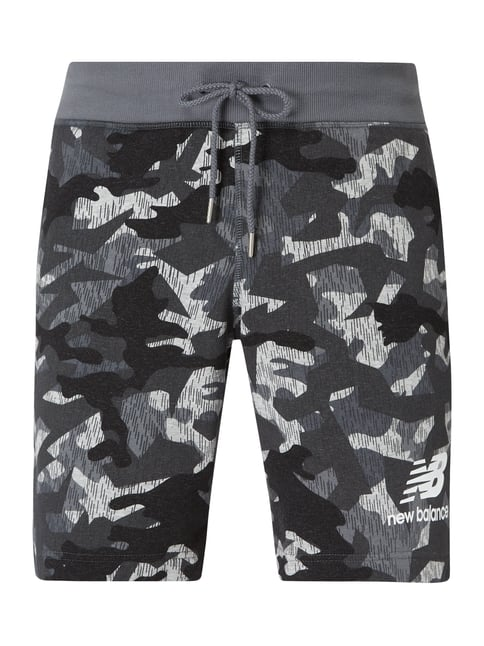 Athletic Fit Sweatshorts mit Camouflage Muster