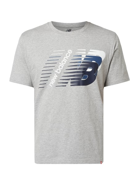 New Balance Athletic Fit T-Shirt mit Logo-Print Grau - 1