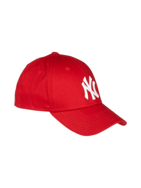 New Era Kappe mit Stickerei Rot - 1
