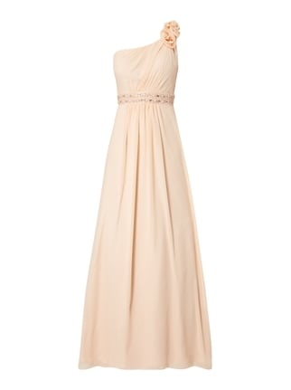 Abendkleid mit One-Shoulder-Träger Orange - 1