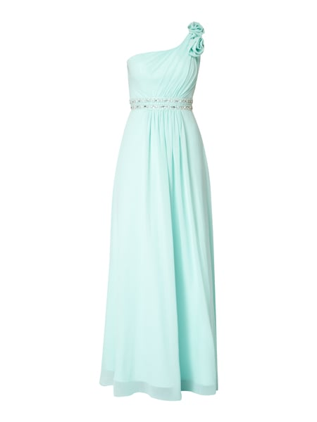 Niente One-Shoulder-Abendkleid aus Chiffon Mint