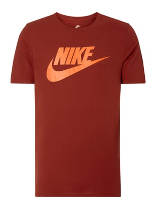 Athletic Cut T-Shirt mit Logo-Print Rot - 1