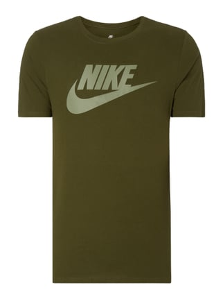 Athletic Cut T-Shirt mit Logo-Print Grün - 1