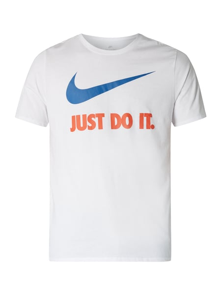 Nike Athletic Cut T-Shirt mit Logo-Stickerei Weiß