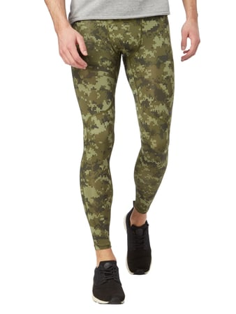 Nike Funktionsleggings mit Allover-Muster - HyperCool Olivgrün - 1