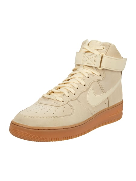 the latest 2d586 6982a Nike High Top Sneaker  Air Force 1  aus Veloursleder Weiß - 1