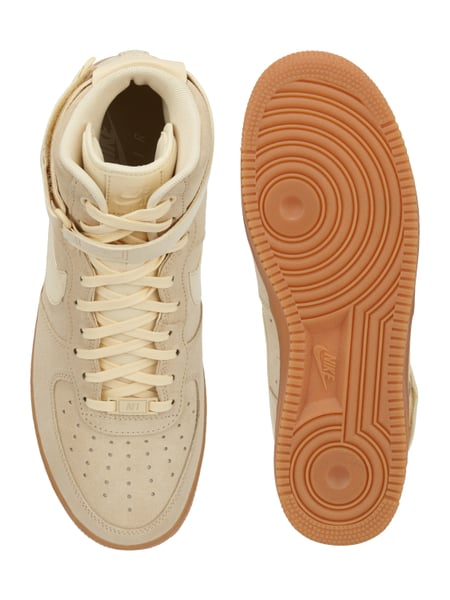 new style 98c9f 3d241 Nike High Top Sneaker  Air Force 1  aus Veloursleder Offwhite - 1