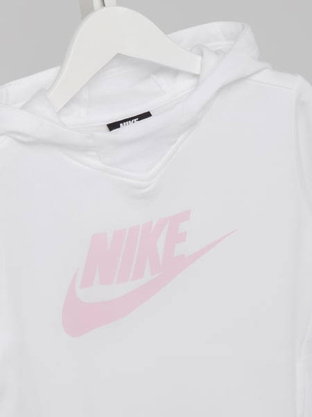arriving good quality coupon code Nike – Hoodie mit Logo-Print – Weiß