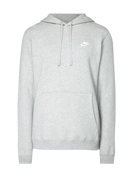 low priced 695c6 40a11 Nike – Hoodie mit Logo-Stickerei – Mittelgrau
