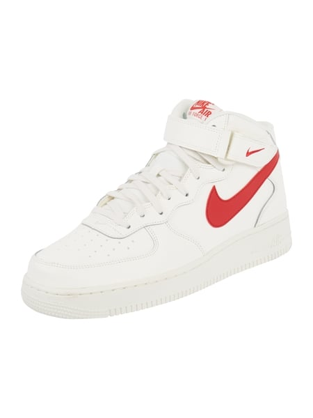 on sale caed3 75720 Nike Sneaker Air Force 1 Mid 07 aus Leder Weiß - 1