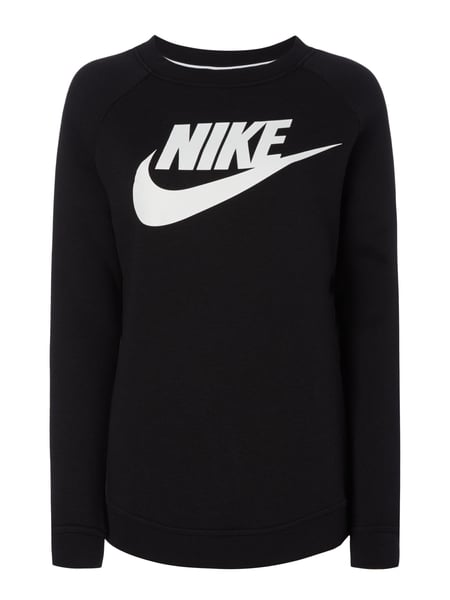 nike sweatshirt mit logo print in grau schwarz online. Black Bedroom Furniture Sets. Home Design Ideas