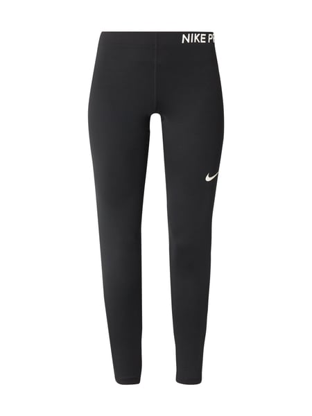 NIKE TRAINING Tight Fit Leggings mit Kontrasteinsätzen - Dri-FIT Schwarz