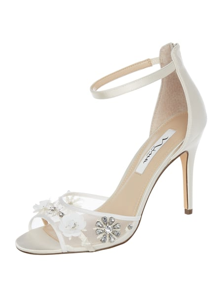 NINA SHOES High Heels mit floralen Applikationen Weiß - 1