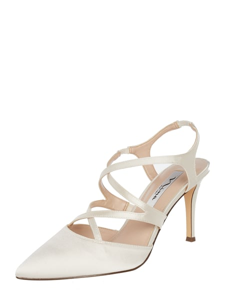 NINA SHOES Pumps aus Textil Weiß - 1