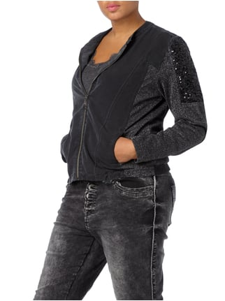 No Secret PLUS SIZE - Jacke mit Effektgarn Anthrazit - 1