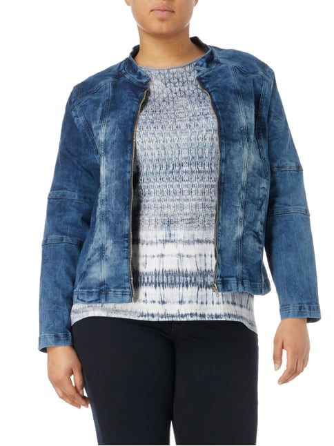 No Secret PLUS SIZE - Jeansjacke im Bleached Look Jeans - 1