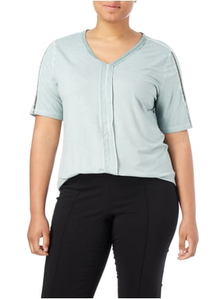 No Secret PLUS SIZE - Longshirt im Washed Out Look Mint - 1