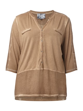 PLUS SIZE - Shirt im Washed Out Look Braun - 1