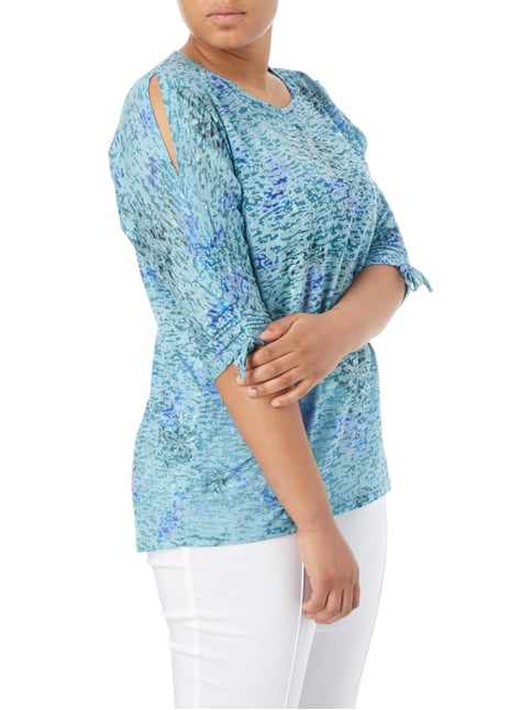 No Secret PLUS SIZE - Shirt mit floralem Muster Mint - 1