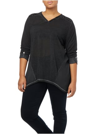 No Secret PLUS SIZE - Shirt mit Pailletten Anthrazit - 1