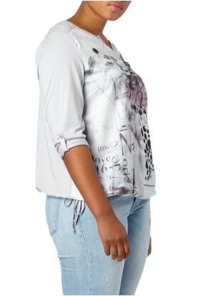 No Secret PLUS SIZE - Shirt mit Pailletten-Besatz Silber - 1