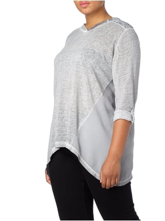 No Secret PLUS SIZE - Shirt mit Pailletten Silber - 1