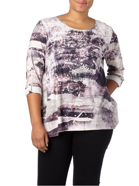No Secret PLUS SIZE - Shirt mit Plisseefalten Altrosa - 1