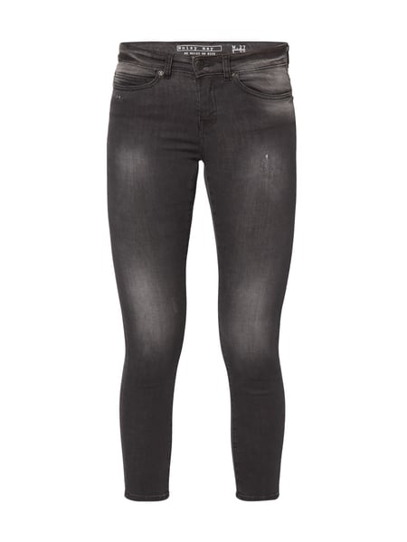 Noisy May Ankle Cut Skinny Fit Jeans im Used Look Schwarz