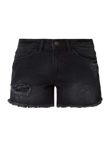 Noisy May Coloured Jeansshorts im Destroyed Look Grau / Schwarz - 1
