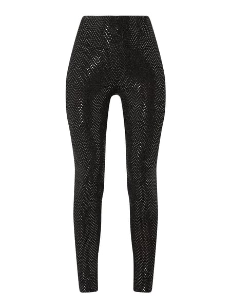 Noisy May Leggings mit Pailletten-Applikationen Schwarz - 1