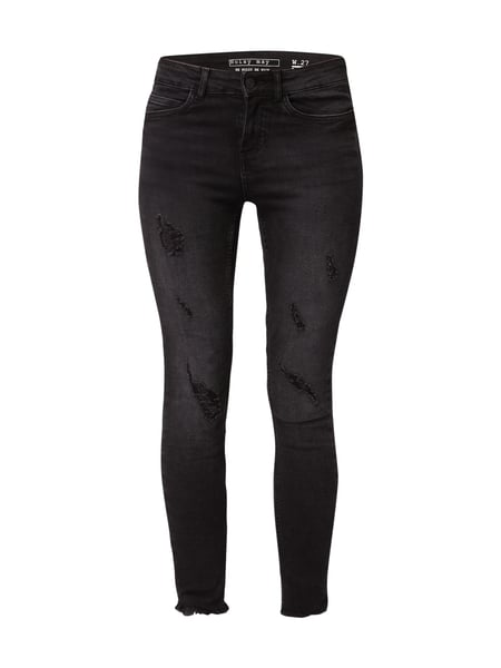 Noisy May Skinny Fit Jeans im Destroyed Look Schwarz