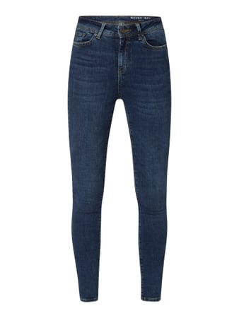 Noisy May Skinny Fit Jeans im Used Look Blau - 1