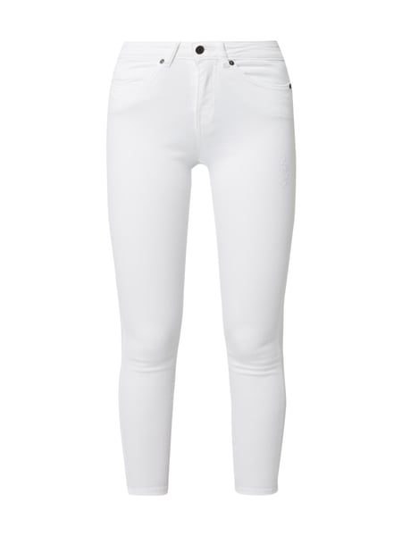 Noisy May Skinny Fit Jeans im Used Look Weiß