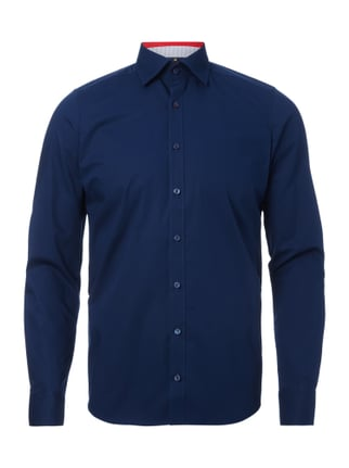 Body Fit Business-Hemd mit Button-Down-Kragen Blau / Türkis - 1