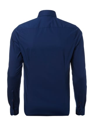 OLYMP Level 5 Body Fit Business-Hemd mit Button-Down-Kragen Marineblau - 1